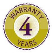 4 jaar garantie!